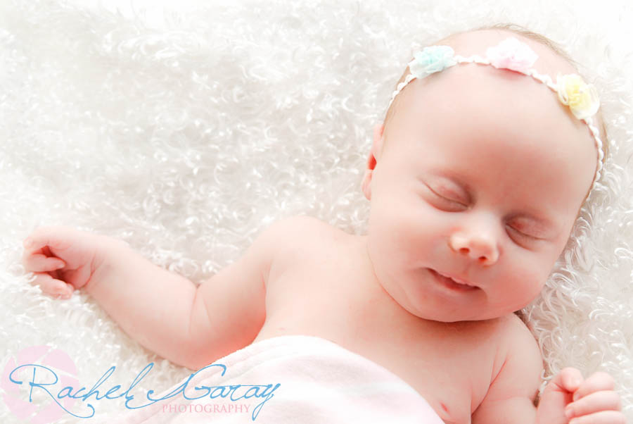 A sleeping baby B, after her baby portraits session!
