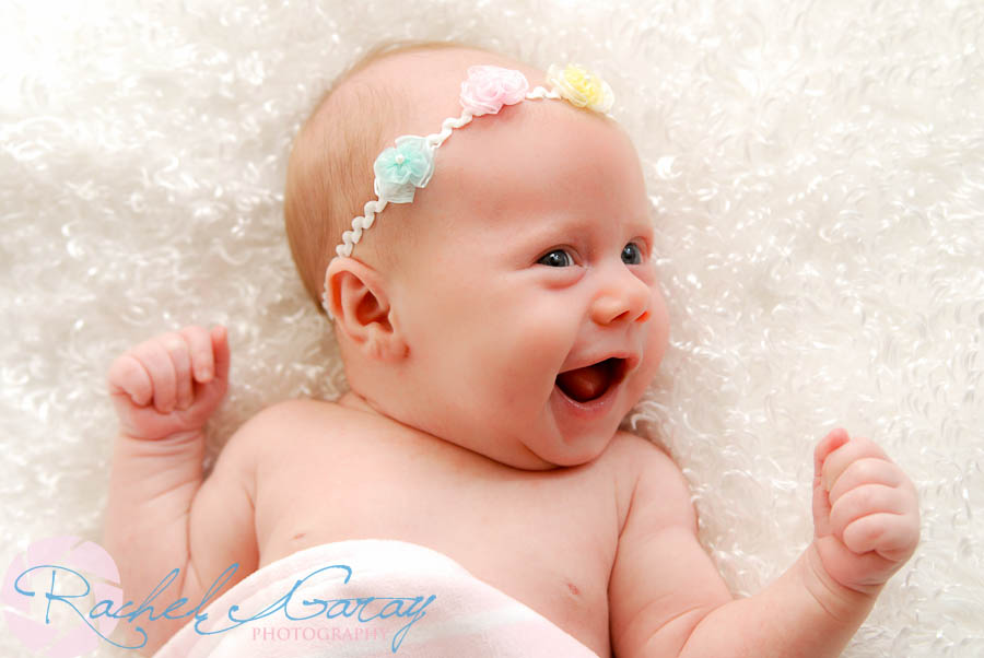 Baby smiling in this studio photography session!
