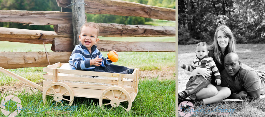 Child and mother smiling in this Rockville children's portrait session