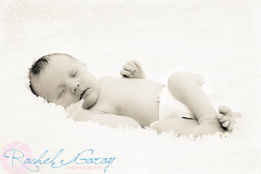 Children's newborn portraits featuring 2 day old Baby B!
