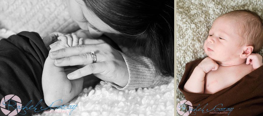 Newborn with mother in these Rockville baby photos
