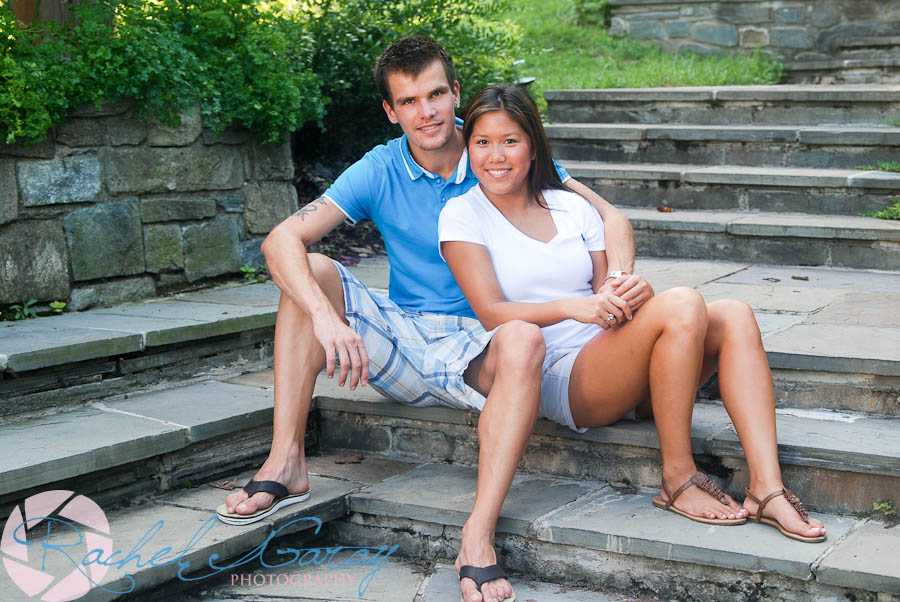 A young couple at a Brookside Gardens portrait session